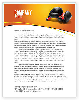 Boxing Gloves Letterhead Template, 03113, Sports — PoweredTemplate.com