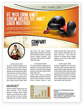 Sports: Boxing Gloves Newsletter Template #03113