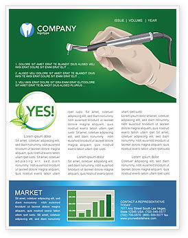 Dentist Newsletter Template, 03114, Medical — PoweredTemplate.com