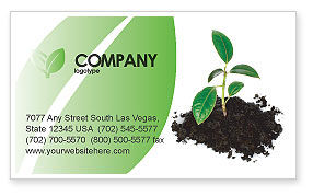 Nature & Environment: Life Business Card Template #03126