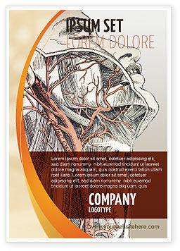 Craniofacial Anatomy Ad Template, 03127, Medical — PoweredTemplate.com