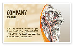Craniofacial Anatomy Business Card Template, 03127, Medical — PoweredTemplate.com