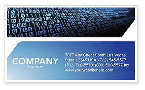 Computer Business Card Template, 03128, Technology, Science & Computers — PoweredTemplate.com