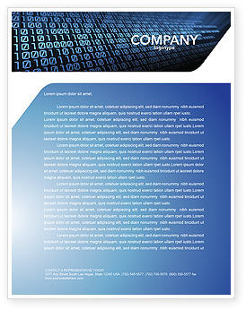 Computer Letterhead Template, 03128, Technology, Science & Computers — PoweredTemplate.com
