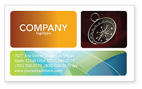 Business Concepts: Compass In A Dark Red Velvet Business Card Template #03130