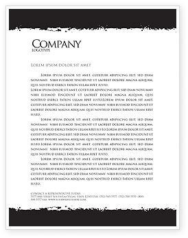 Revolution Letterhead Template, 03136, 3D — PoweredTemplate.com