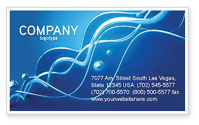 Water Theme Business Card Template, 03137, 3D — PoweredTemplate.com