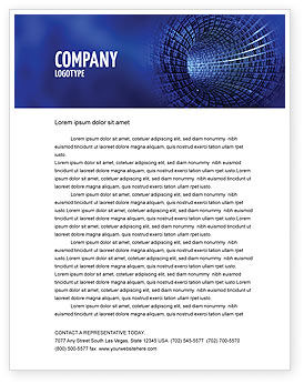 Infinite Space Letterhead Template, 03140, Technology, Science & Computers — PoweredTemplate.com