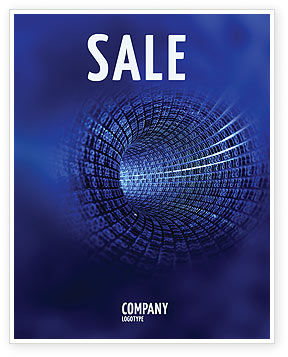Technology, Science & Computers: Infinite Space Sale Poster Template #03140