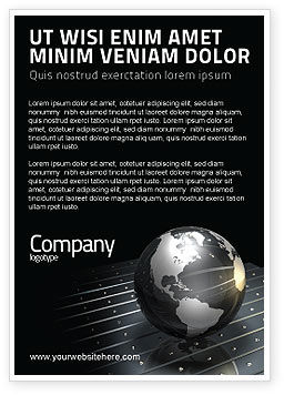 Globe Of Steel Ad Template, 03141, Global — PoweredTemplate.com