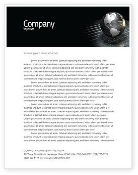 Global: Globe Of Steel Letterhead Template #03141