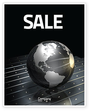 Globe Of Steel Sale Poster Template