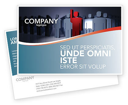 Expressing Opinion Postcard Template, 03145, Consulting — PoweredTemplate.com