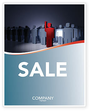 Expressing Opinion Sale Poster Template, 03145, Consulting — PoweredTemplate.com