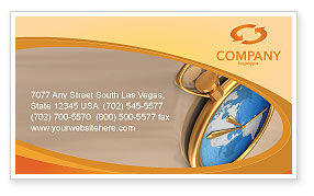 Business Concepts: Clocks Business Card Template #03146