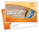 Business Concepts: Clocks Postcard Template #03146