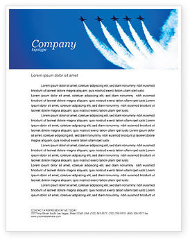 Military: Aviation Parade Letterhead Template #03150