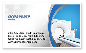 Medical: Tomography Machine Business Card Template #03151