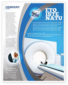 Medical: Tomography Machine Flyer Template #03151