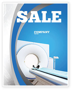 Medical: Tomography Machine Sale Poster Template #03151