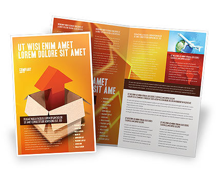 Shipment Brochure Template, 03152, Careers/Industry — PoweredTemplate.com