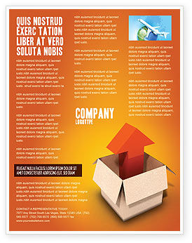 Shipment Flyer Template, 03152, Careers/Industry — PoweredTemplate.com