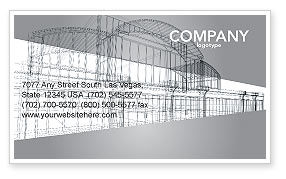 Construction: Building Design Business Card Template #03154