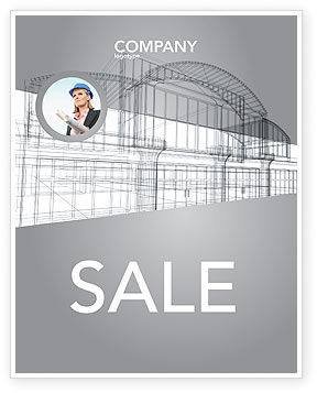 Construction: Building Design Sale Poster Template #03154