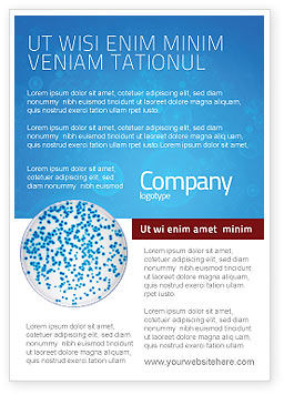 Petri Dish Ad Template, 03156, Medical — PoweredTemplate.com