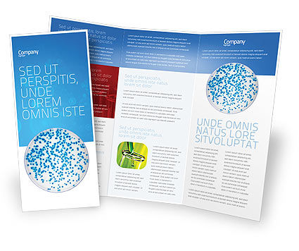 Petri Dish Brochure Template, 03156, Medical — PoweredTemplate.com