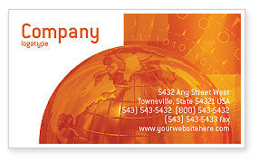 Global: Wide World Business Business Card Template #03159