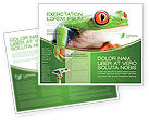 Agriculture and Animals: Tropical Green Frog Brochure Template #03160