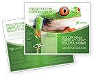 Agriculture and Animals: Tropischer grüner frosch Broschüren Vorlage #03160