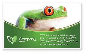 Agriculture and Animals: Tropical Green Frog Business Card Template #03160