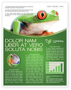 Tropical Green Frog Newsletter Template, 03160, Agriculture and Animals — PoweredTemplate.com