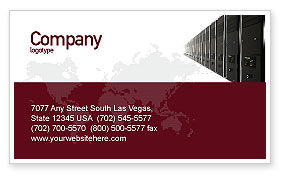 Server Room Business Card Template, 03161, Technology, Science & Computers — PoweredTemplate.com