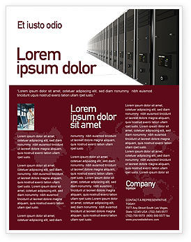 Server Room Flyer Template