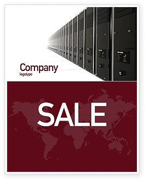 Server Room Sale Poster Template