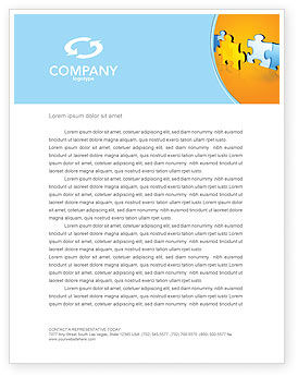Jigsaw Chain Letterhead Template, 03165, Abstract/Textures — PoweredTemplate.com
