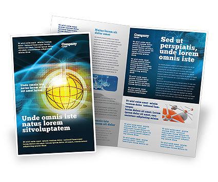 World Online Brochure Template, 03166, Telecommunication — PoweredTemplate.com
