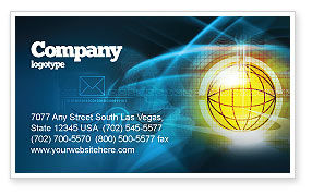 Telecommunication: World Online Business Card Template #03166