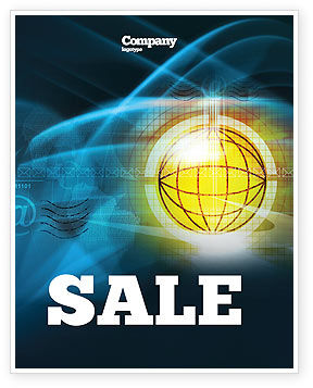 World Online Sale Poster Template, 03166, Telecommunication — PoweredTemplate.com