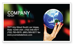 Global Power Business Card Template, 03167, Global — PoweredTemplate.com