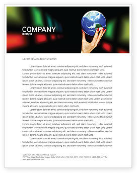 Global Power Letterhead Template, 03167, Global — PoweredTemplate.com