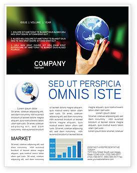 Global Power Newsletter Template, 03167, Global — PoweredTemplate.com