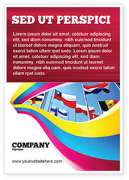 Flags/International: Verenigde Naties Advertentie Template #03169