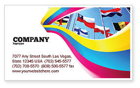 Flags/International: United Nations Business Card Template #03169