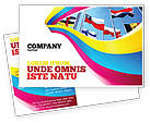 Flags/International: United Nations Postcard Template #03169