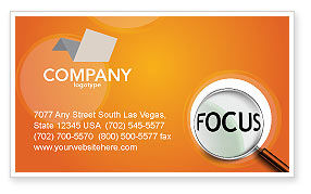 Focus Business Card Template, 03176, Consulting — PoweredTemplate.com