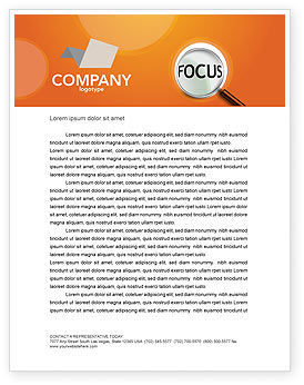 Focus Letterhead Template, 03176, Consulting — PoweredTemplate.com